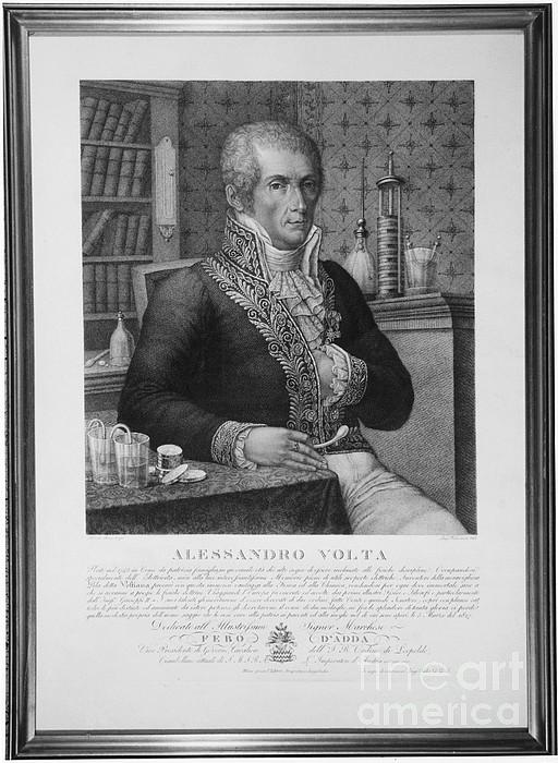 Alessandro Volta, Italian Physicist Print by Omikron