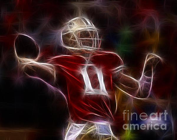 Alex Smith - 49ers Quarterback Print by Paul Ward