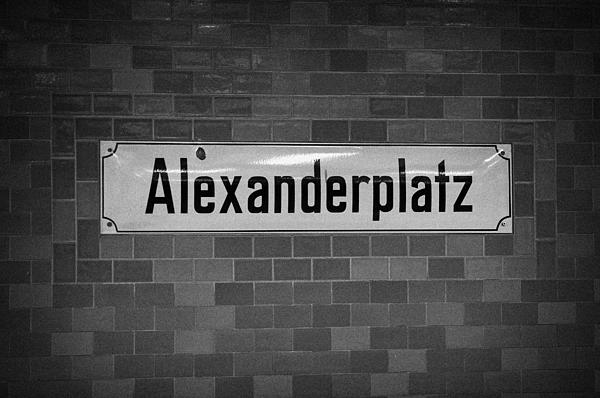 Alexanderplatz Berlin U-bahn Underground Railway Station Name Plates Germany Print by Joe Fox