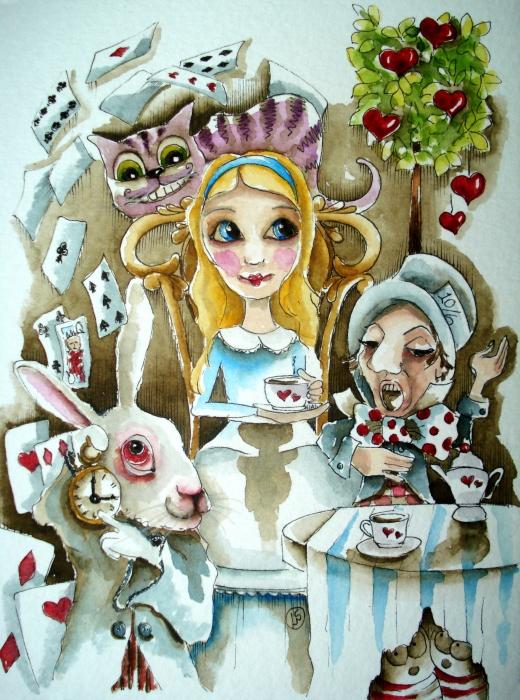Alice In Wonderland 1 Print by Lucia Stewart