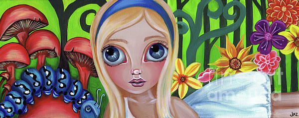 Alice Meets The Caterpillar Print by Jaz Higgins