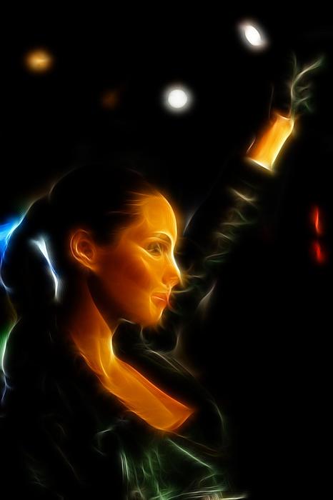 Alicia Keys - Singer Print by Lee Dos Santos