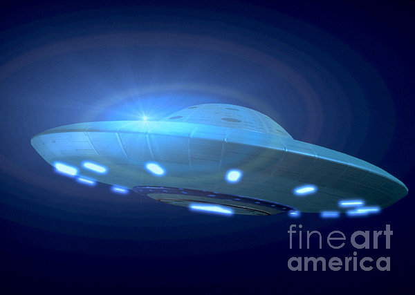 Alien Spacecraft Print by Gregory MacNicol and Photo Researchers
