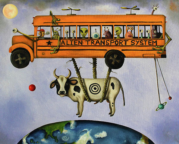 Alien Transport System Print by Leah Saulnier The Painting Maniac