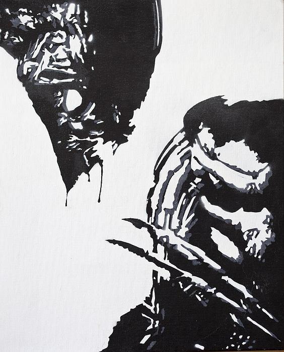 Alien Vs Preditor Print by Stephen Ford