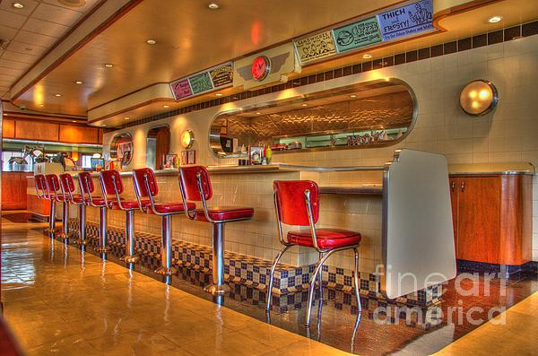 All American Diner 2 Print by Bob Christopher