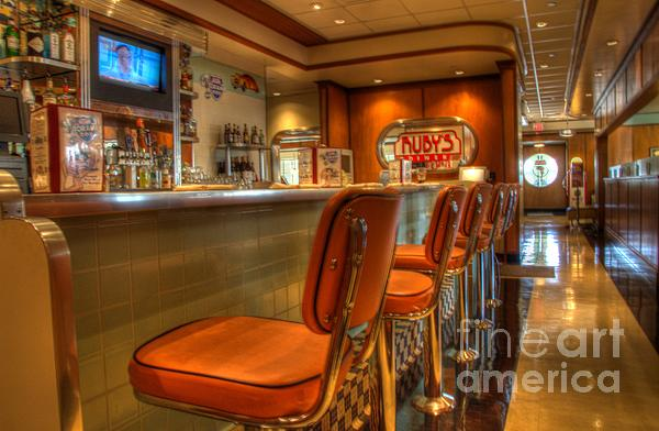 All American Diner 3 Print by Bob Christopher