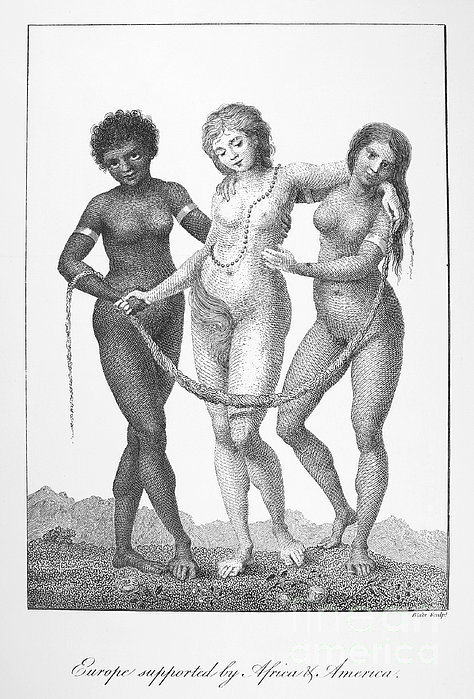 Allegory: Slave Trade, 1796 Print by Granger