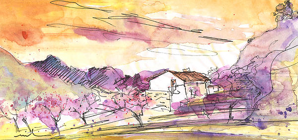 Almond Trees In Spain 02 Print by Miki De Goodaboom