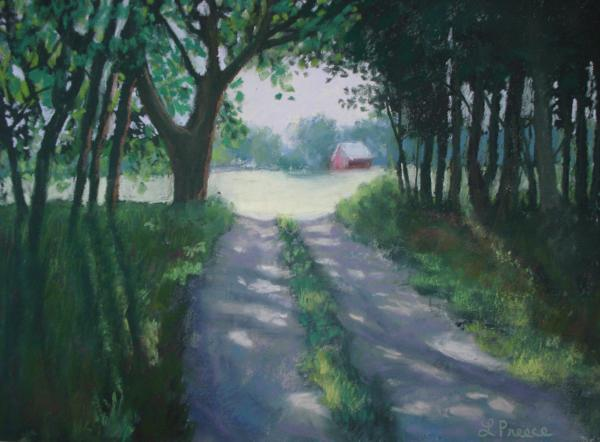 Along Kelderhouse Road Print by Linda Preece