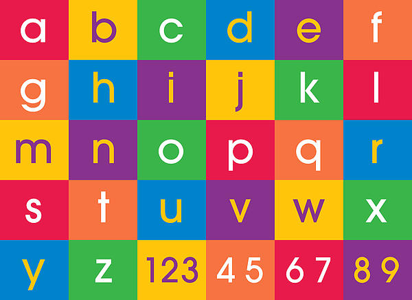 Alphabet Colors Print by Michael Tompsett
