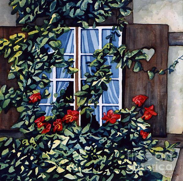 Alsace Window Print by Scott Nelson