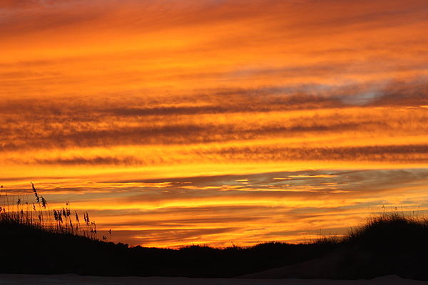 Amazing Sunset Over Obx Print by Kim Galluzzo Wozniak