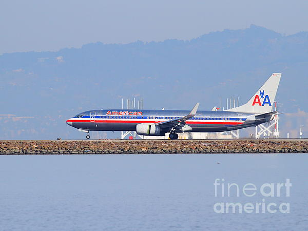American Airlines Jet Airplane At San Francisco International Airport Sfo . 7d11837 Print by Wingsdomain Art and Photography