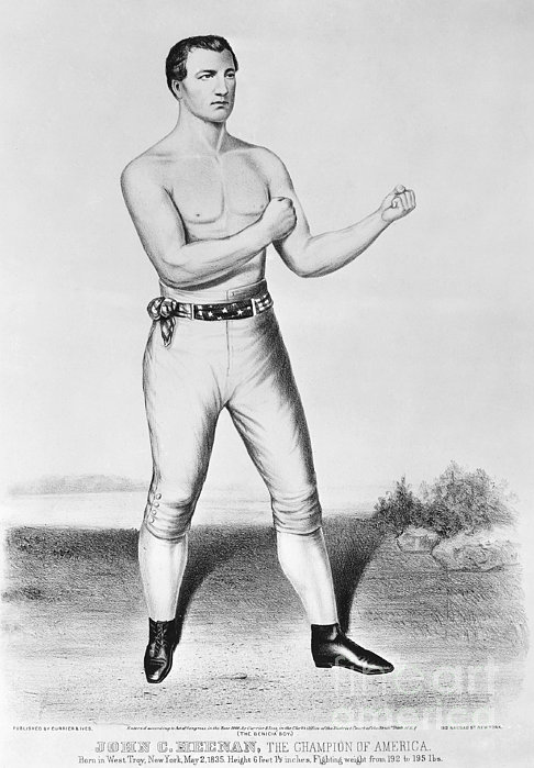 American Boxer, 1860 Print by Granger