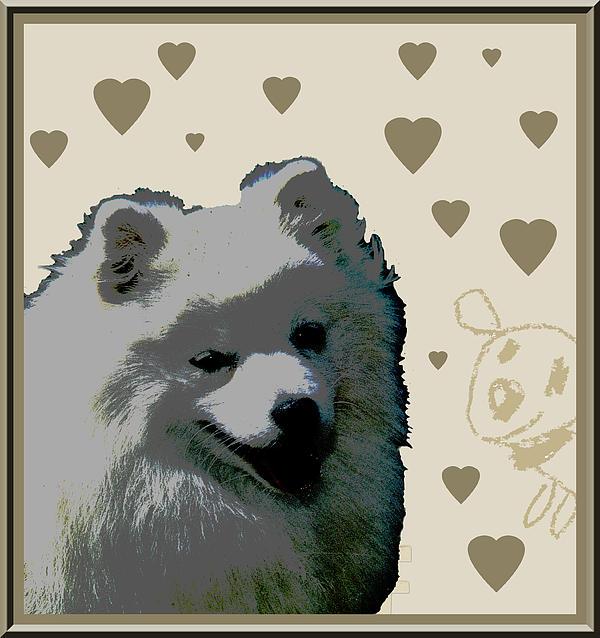 American Eskimo Print by One Rude Dawg Orcutt
