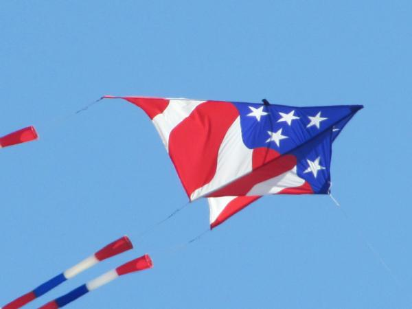 American Flag Kite Photograph  - American Flag Kite Fine Art Print