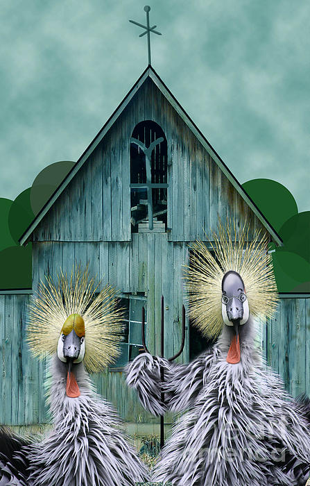American Gothic Revisisted  Print by Lois Mountz