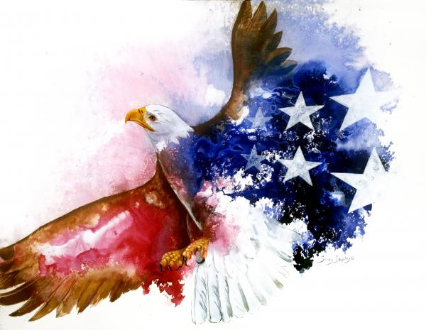 American Spirit Print by Sherry Shipley