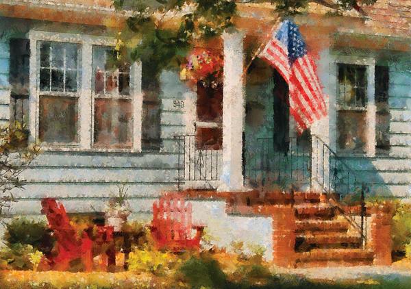 Americana - America The Beautiful Print by Mike Savad