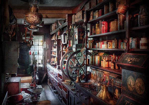 Americana - Store - Corner Grocer  Print by Mike Savad