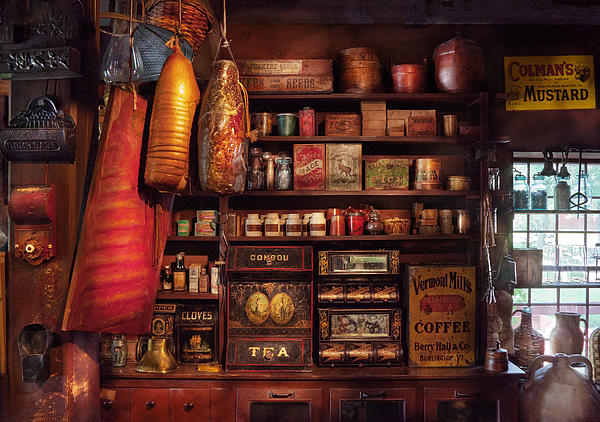 Americana - Store - The Local Grocers  Print by Mike Savad