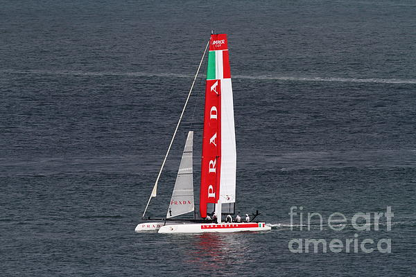 America's Cup In San Francisco - Italy Luna Rossa Paranha Sailboat - 7d19041 Print by Wingsdomain Art and Photography