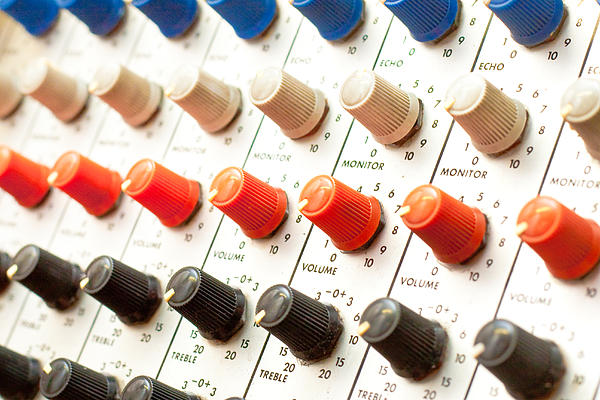 Amplifier Dials Print by Tom Gowanlock