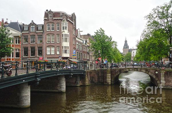 Amsterdam Bridge - 02 Print by Gregory Dyer