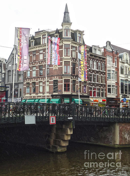 Amsterdam Canal Bridge - 04 Print by Gregory Dyer