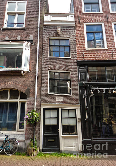 Amsterdam Skinny House Print by Gregory Dyer