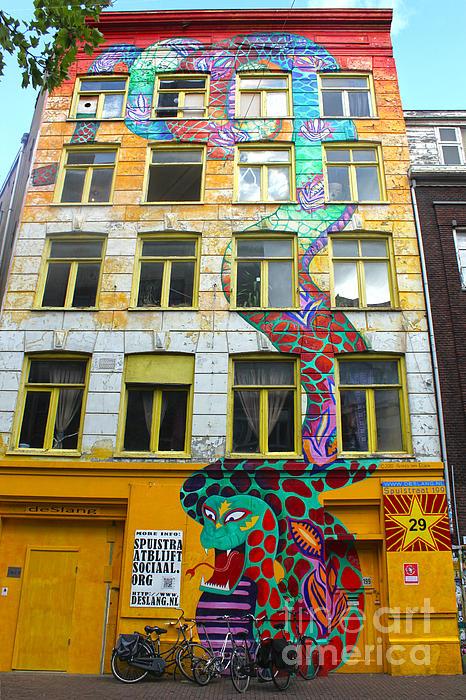 Amsterdam Snake Graffiti Mural Print by Gregory Dyer