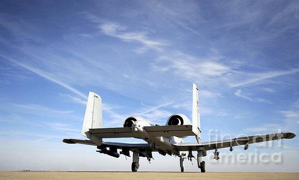 An A-10 Thunderbolt II Taxies Print by Stocktrek Images