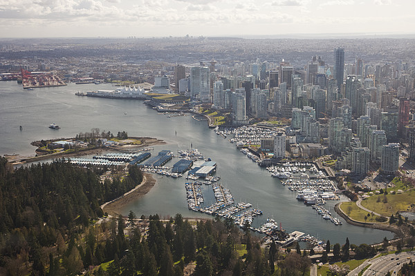 An Aerial View Of The City Of Vancouver Print by Taylor S. Kennedy