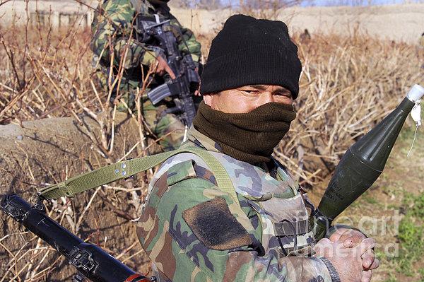 An Afghan Commando On Patrol Print by Stocktrek Images