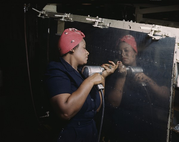 An African American Rosy The Riveter Print by Everett