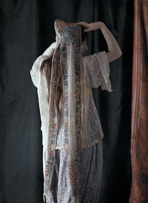 An Algerian Woman Models A Headdress Print by Gervais Courtellemont