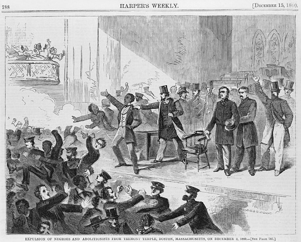 An Angry Mob Broke Up A Meeting Print by Everett
