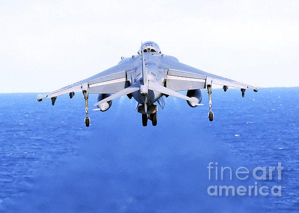 An Av-8b Harrier Jet Launches Print by Stocktrek Images