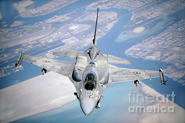 An Emirati F-16 Conducts A Training Print by Stocktrek Images