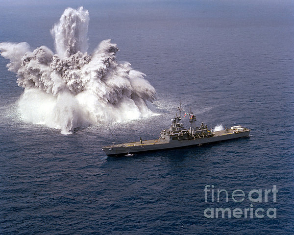 An Explosive Charge Is Detonated Print by Stocktrek Images
