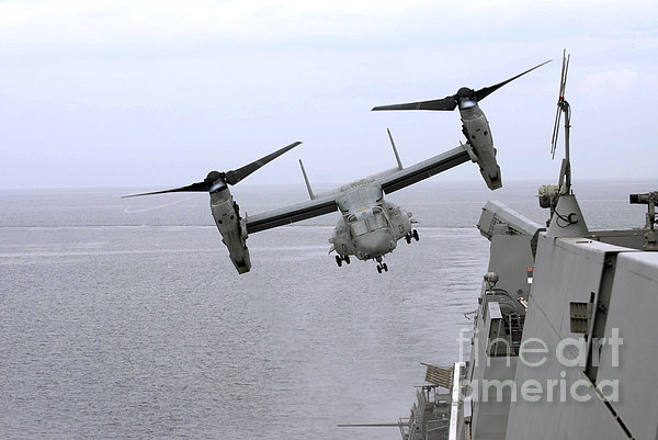 An Mv-22b Osprey Takes Print by Stocktrek Images