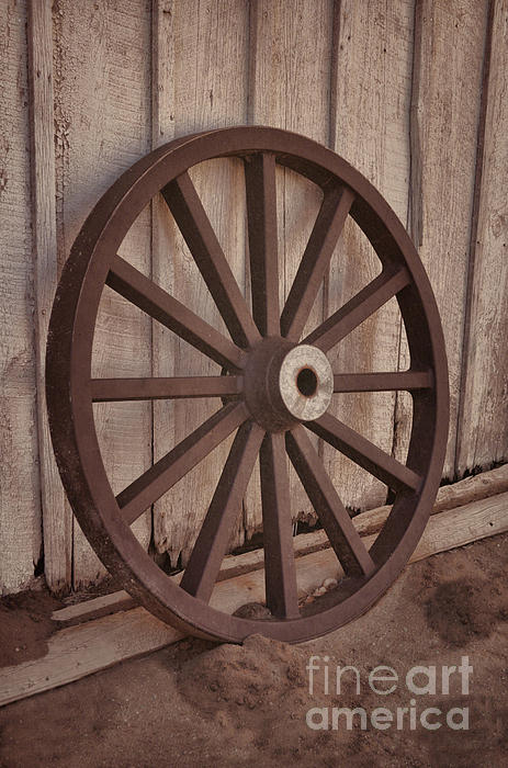 Donna Van Vlack - An Old Wagon Wheel