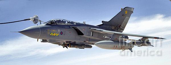 An Raf Tornado Gr-4 Takes On Fuel Print by Stocktrek Images