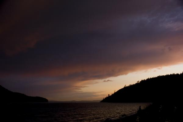 Anacortes Island And Burrows Bay Sunset Print by Stacey Lynn Payne