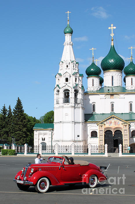 Evgeny Pisarev - Ancient church and car