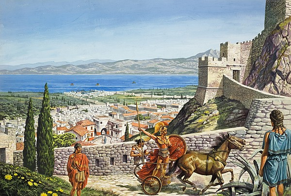 Ancient Corinth Print by Roger Payne