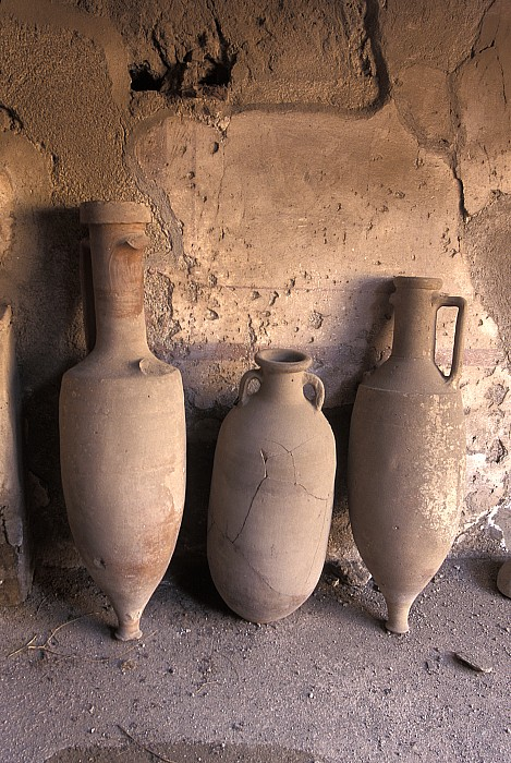 Ancient Wine Clay Vases  In A Wine Print by Richard Nowitz
