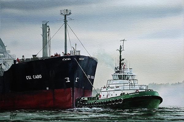 Andrew Foss Ship Assist Print by James Williamson