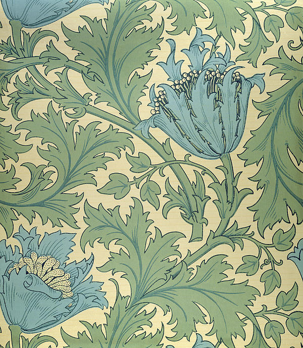 Anemone Design Print by William Morris